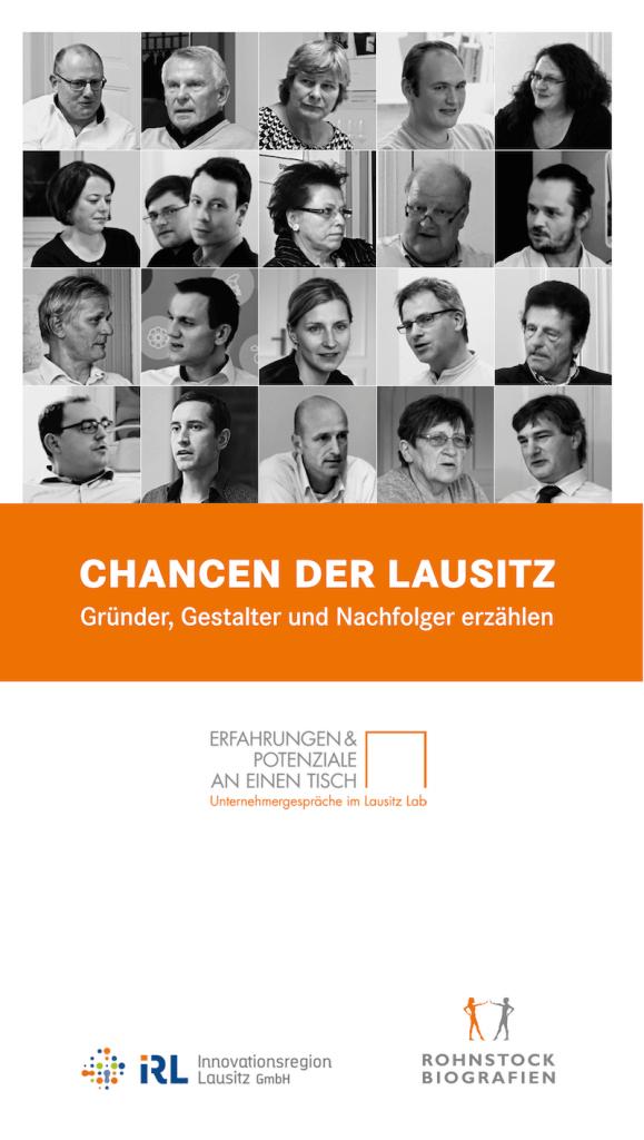 Cover »Chancen der Lausitz. Gründer, Gestalter und Nachfolger erzählen«