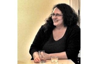Beitragsbild Christina Grätz beim Unternehmergespräch im Lausitz Lab