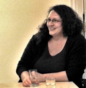 Christina Grätz beim ersten Unternehmergespräch im Lausitz Lab