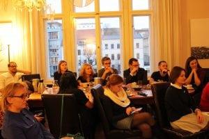 Die Journalistengruppe aus Weißrussland