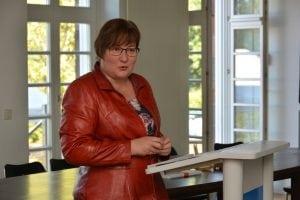 """""""Wir Ostdeutschen können Veränderung"""", sagte Iris Gleicke in ihren Grußworten. Die Lausitzerinnen und Lausitzer hätten das im Erzählprojekt erneut bewiesen. Foto: Detlef A. Hecht"""