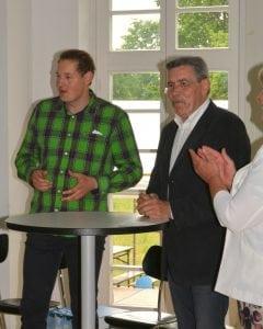 Die frisch gebackenen Salonniers Christian Benusch (l.) und Peter Gallasch sprechen von ihren Erfahrungen