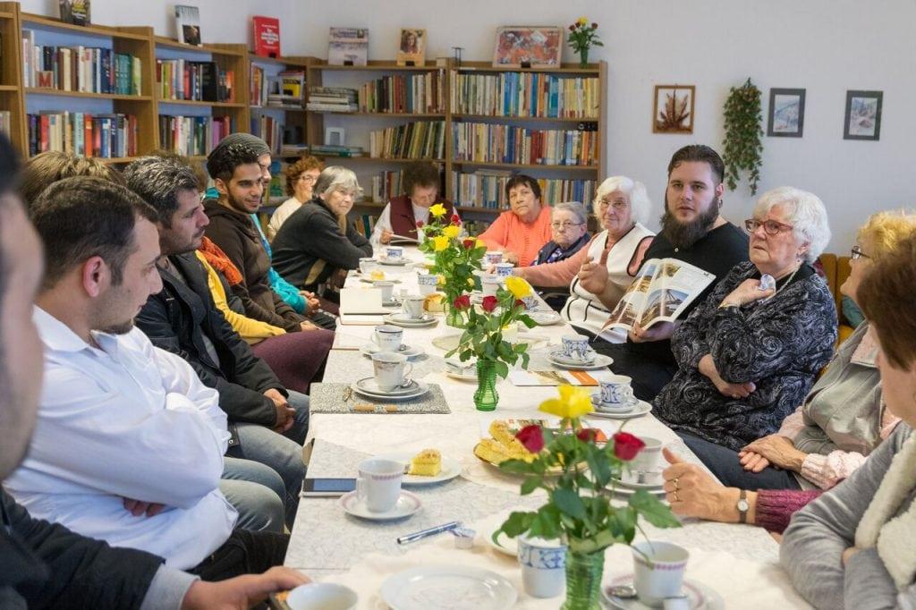 Erzählsalon Sedlitz mit dem DFB und Flüchtlingen in der Chronikstube im Bürgerhaus (17.02.2016) - Eindrücke aus dem Tagebau