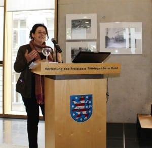 Mechthild Schrooten spricht zur Erforschung der BRD- und DDR-Wirtschaftsgeschichte