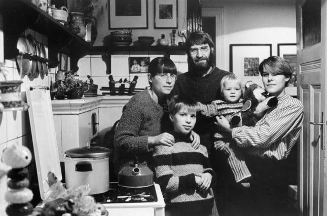 Manfred Butzmann und Familie Berlin-Pankow 1984