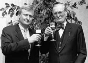 Dietrich Alberts, Geschäftsführer der Gust. Alberts GmbH mit seinem Vater