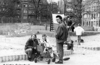 Katrin Rohnstock im Prenzlauer Berg 1989.