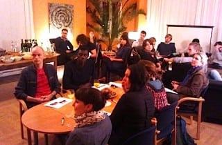 Studierende der TU im Rohnstock Salon