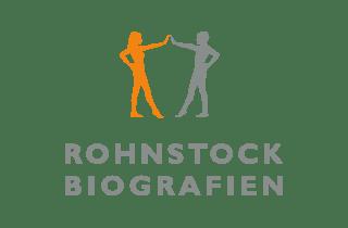 Teaser: Logo Rohnstock Biografien